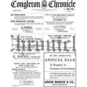 1912 Congleton Chronicle front cover