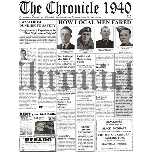 1940 Congleton Chronicle front cover