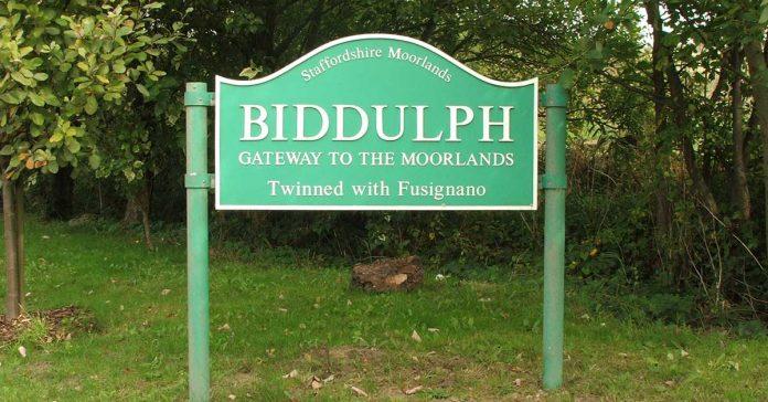 Biddulph town sign.