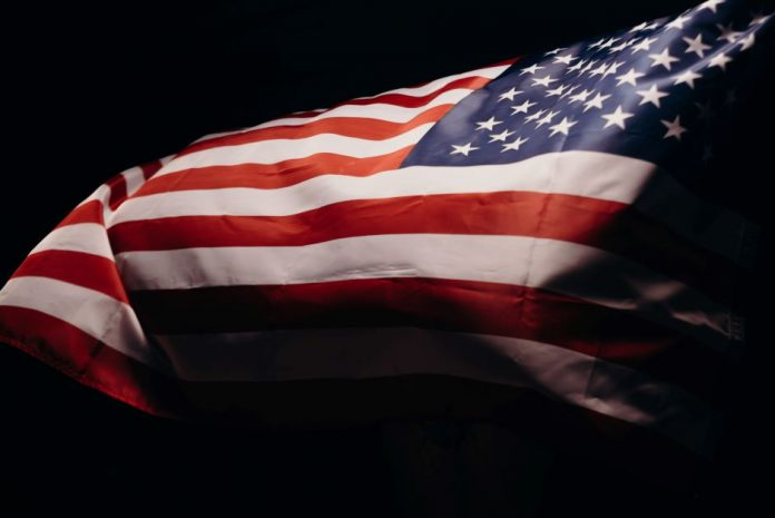 The stars and stripes flag.