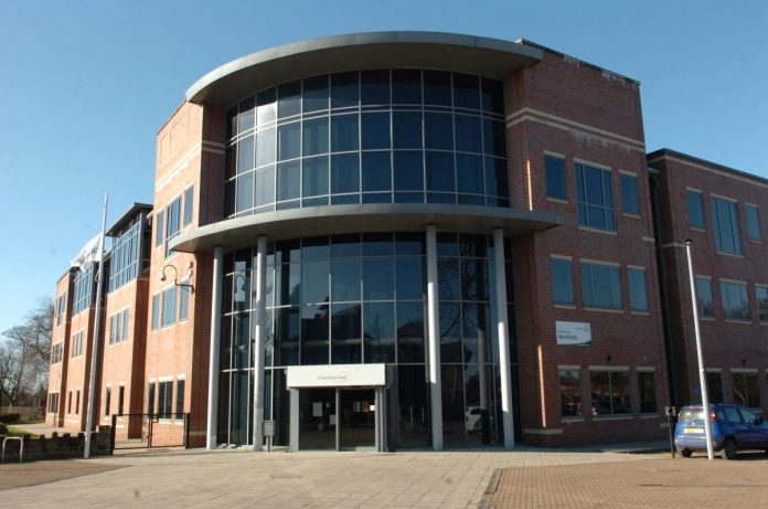 Westfields - the headquarters of Cheshire East Council.