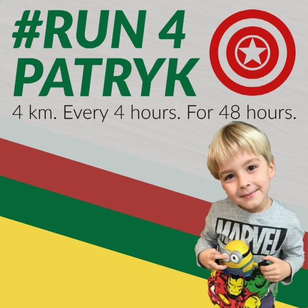 Run4Patryk logo in memory of junior player Patryk Milner.