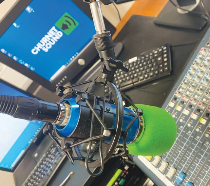 Radio studio - Churnet Sound.