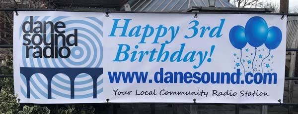 Dane Sound birthday banner.