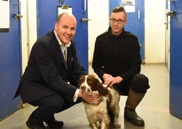 Mr Keane with Cheshire Police dog Rufus.