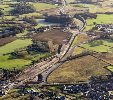 Congleton link road - aerial view.