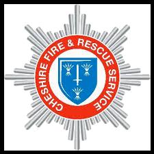Cheshire Fire and Rescue Service logo.