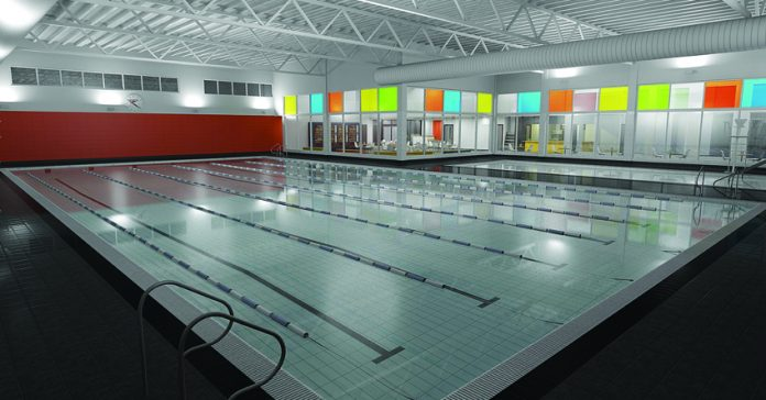 Congleton Leisure Centre: an image of the new swimming pool.