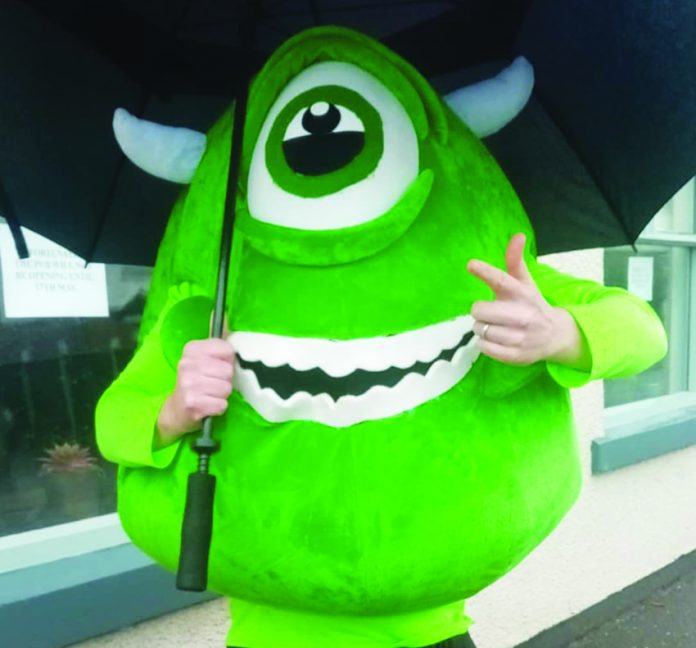 Mayor meets Monsters Inc.
