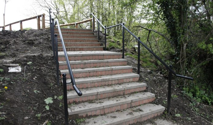 The steps at Falcon Rise.