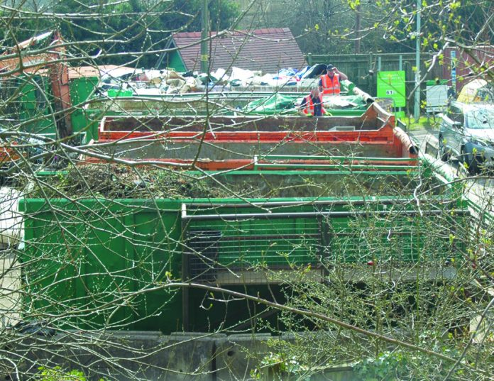 Household waste recycling centre.