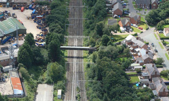 Sandbach rail tracks.