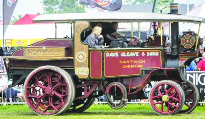 A steam engine at Smallwood Steam Rally.