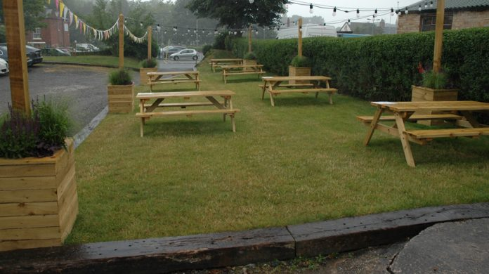 The new beer garden at The Young Pretender