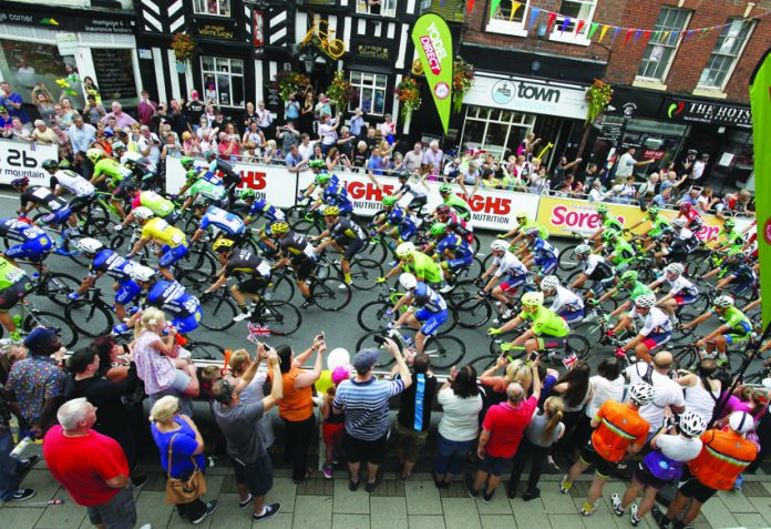Cyclists in Congleton High Street back in 2016.